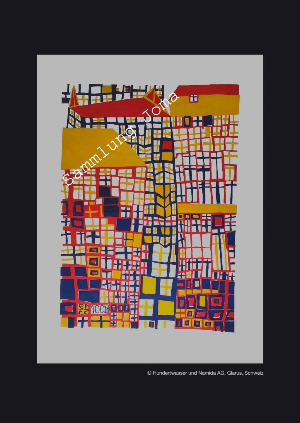 "Hundertwasser Hauptwerk DREI HOHE H""USER 1953 WERK 155 HWG 12 Rene"